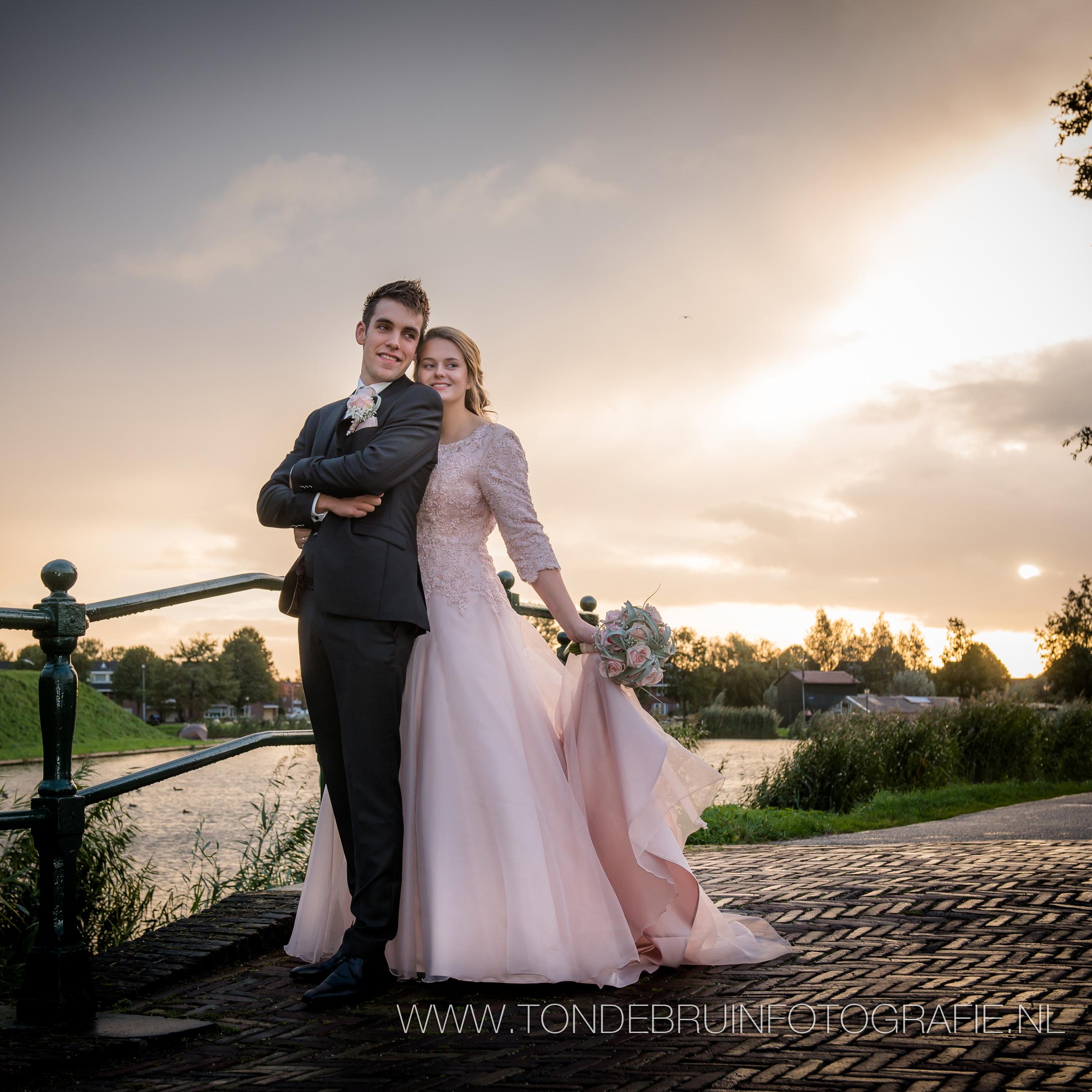 17-10-06 Bruidspaar Jan Willem en Annemarie de Jong 6 oktober 2017