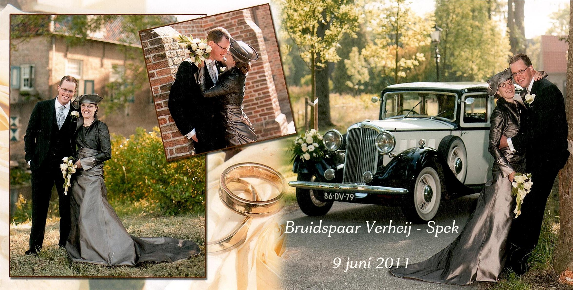 Bruidspaar Verheij - Spek
