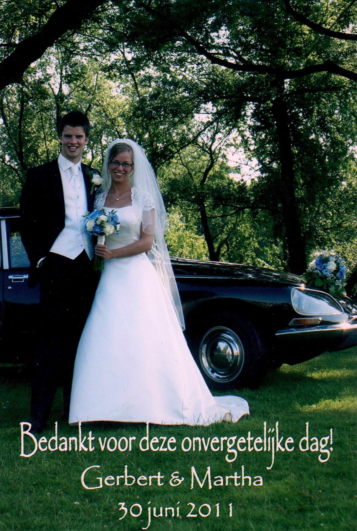 Bruidspaar De Jong - Brand