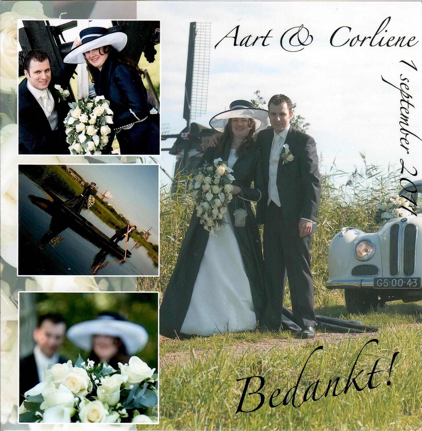 Bruidspaar Van de Hoef - van der Wal