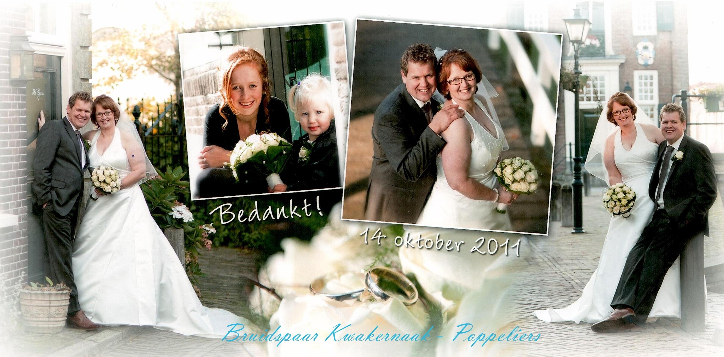 Bruidspaar Kwakernaak - Poppeliers
