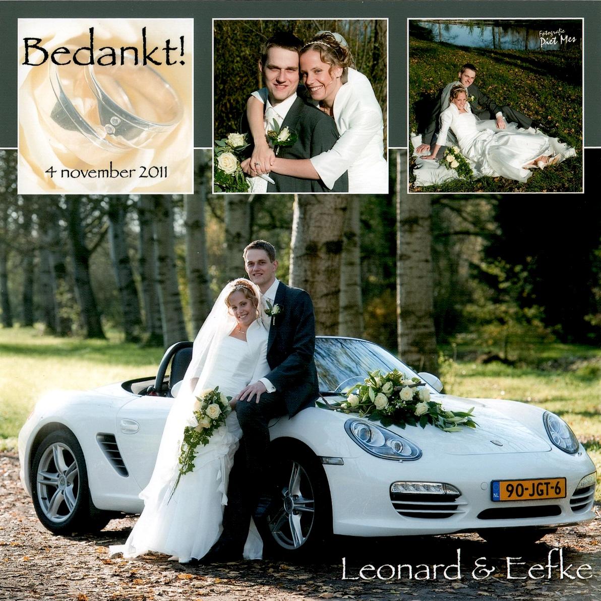 Bruidspaar De Groot - Simons