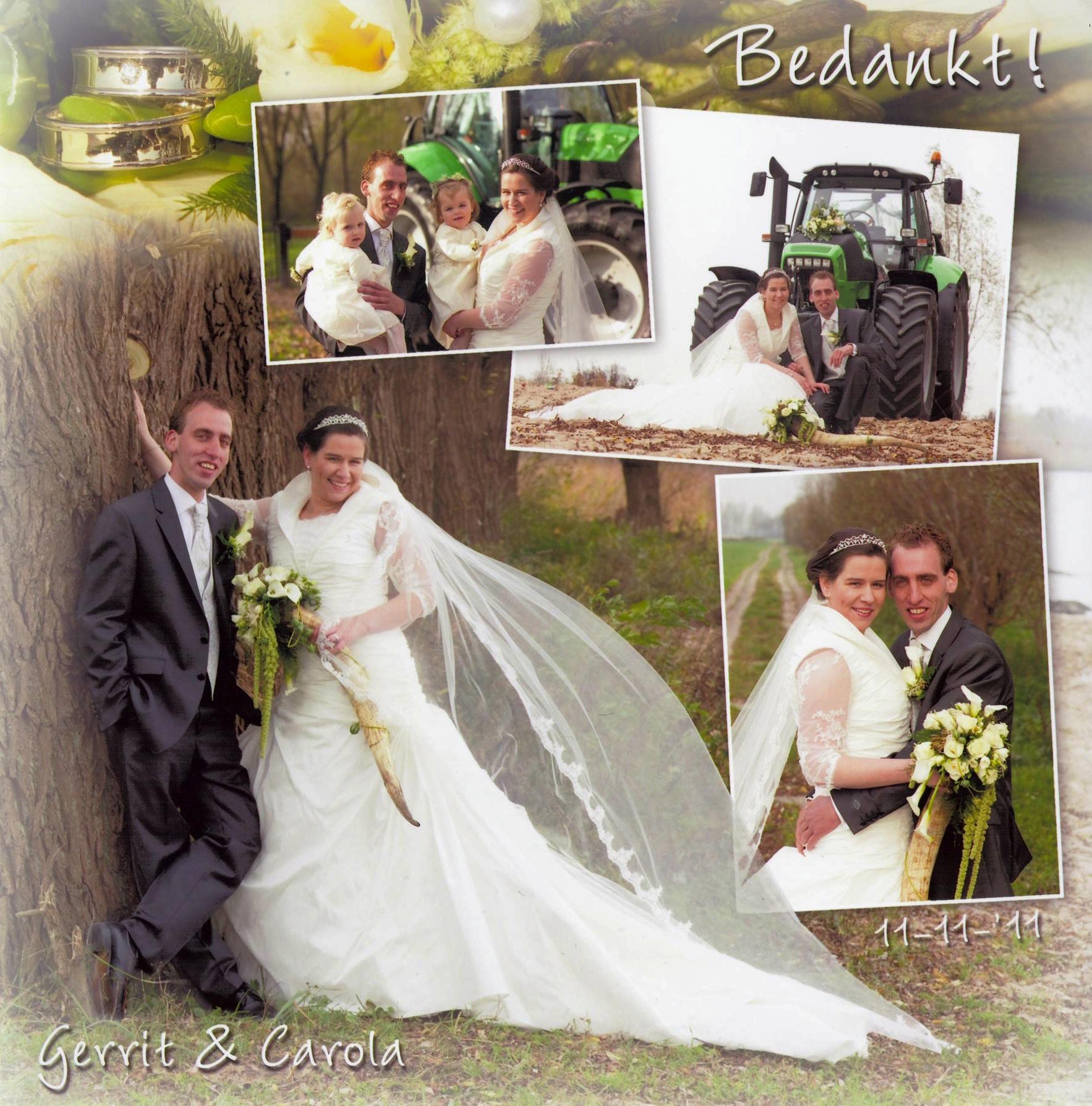 Bruidspaar Brand - van Rees