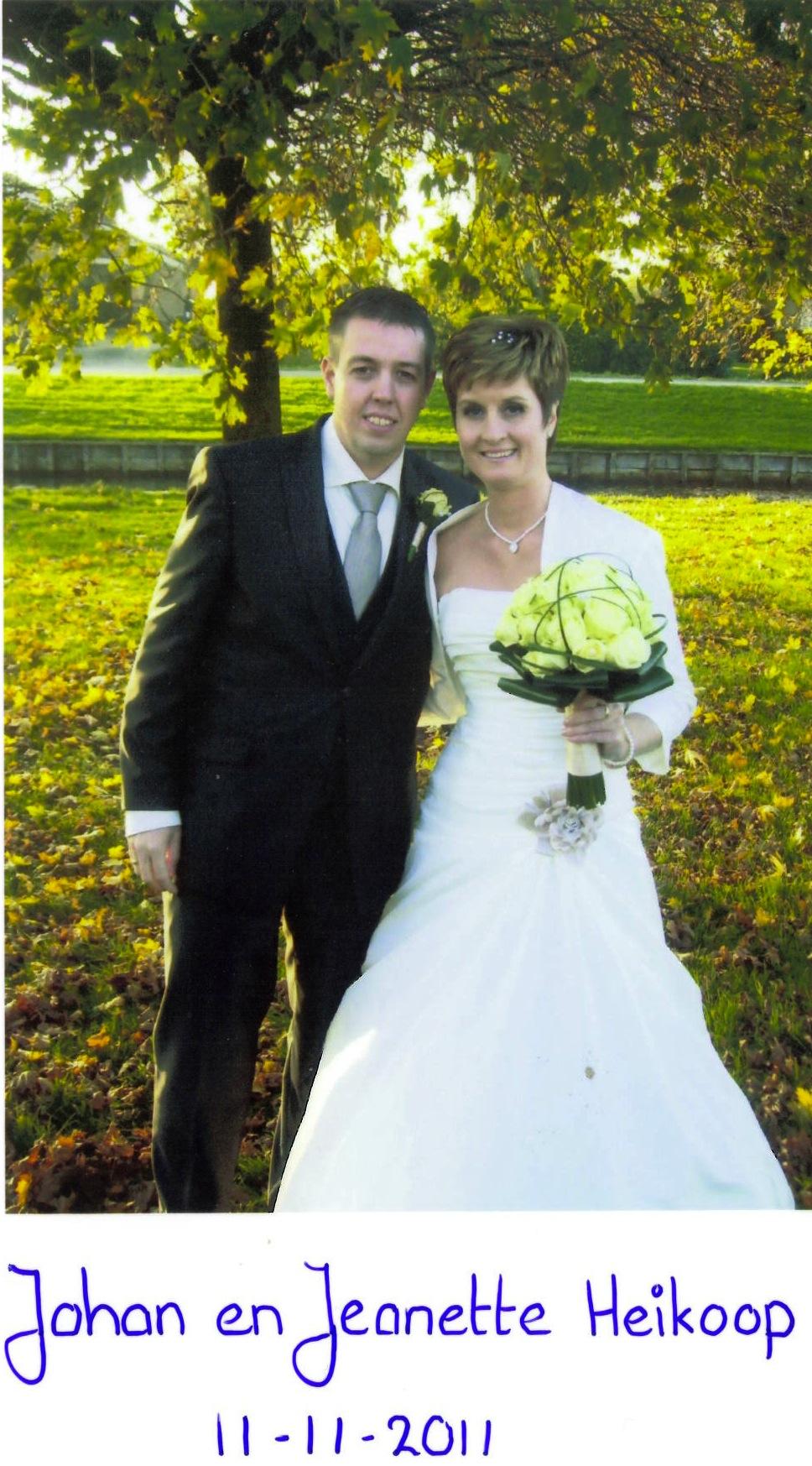 Bruidspaar Johan & Jeanette Heikoop