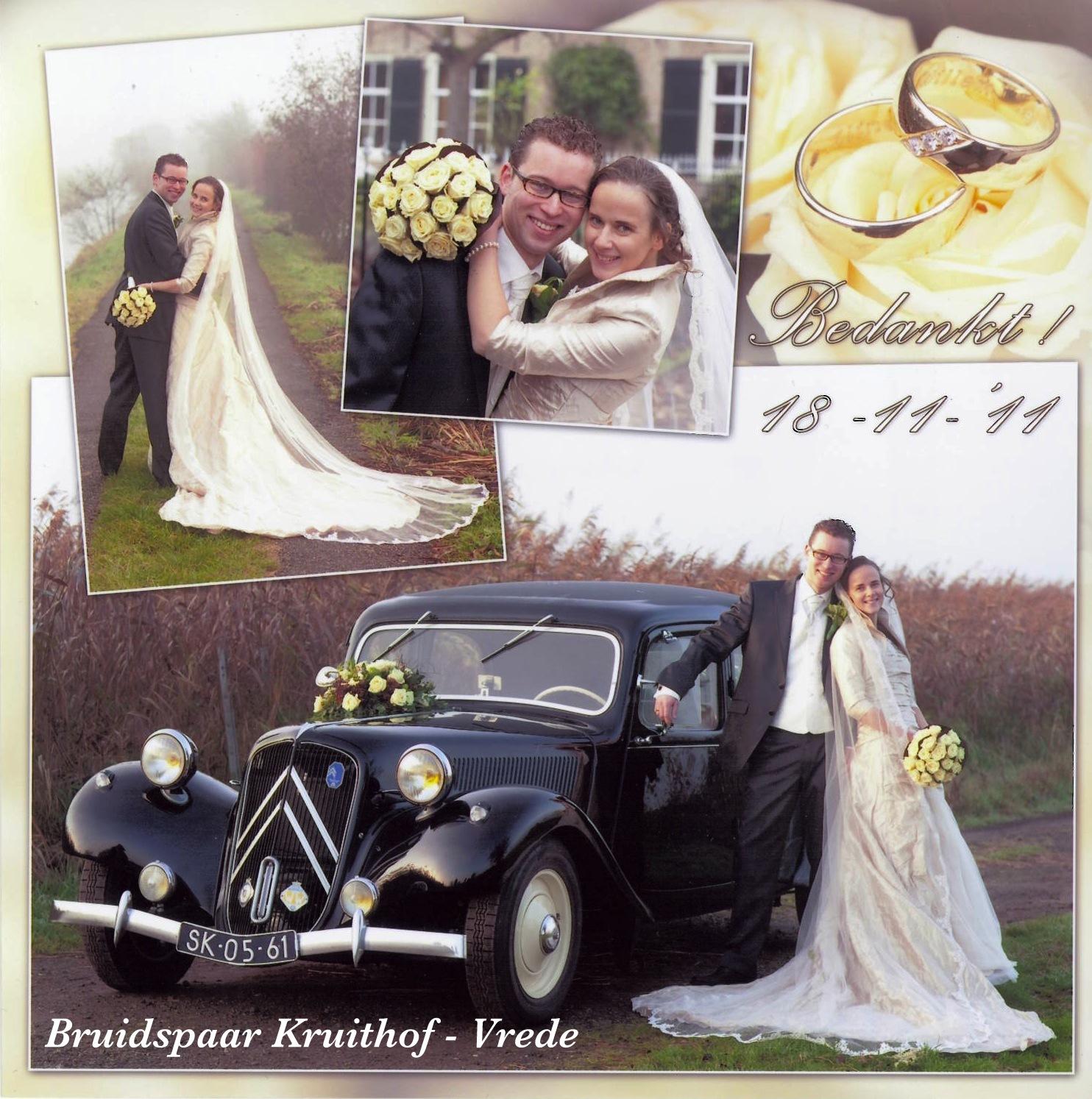 Bruidspaar Kruithof - Vreede