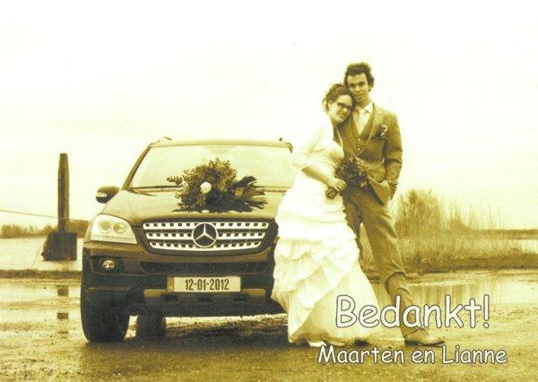 Bruidspaar Van Tienhoven - Blokland 12-01-2012