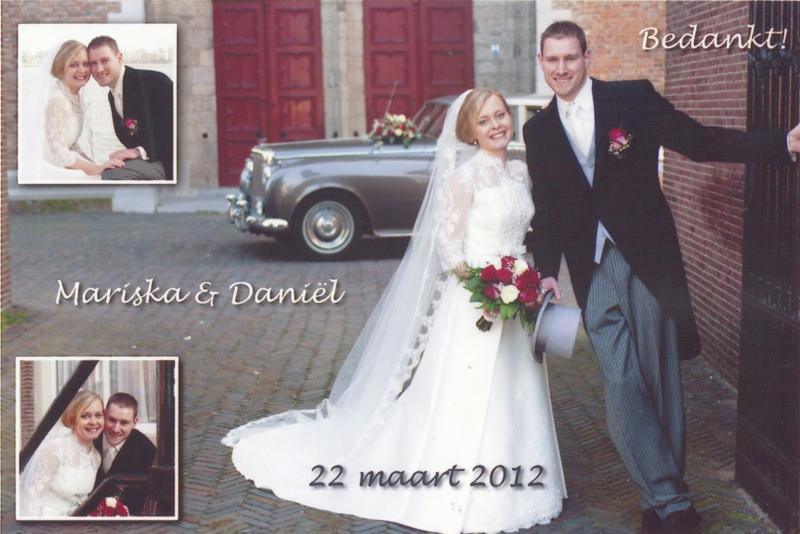 Bruidspaar Gerrets - van der Slik 23-03-2012