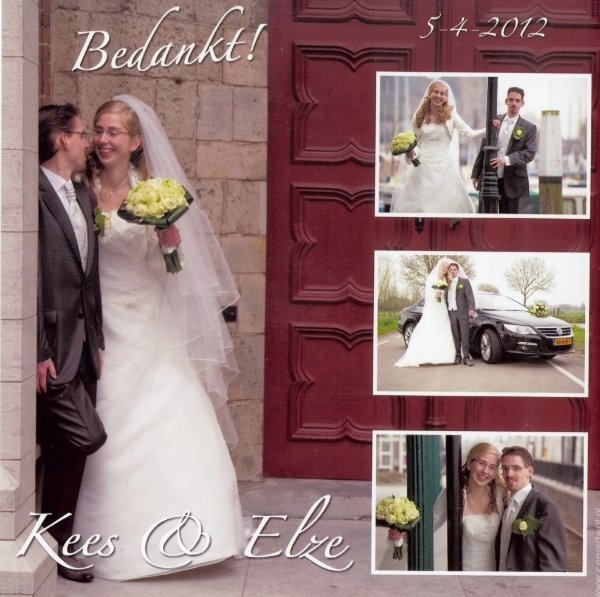 Bruidspaar Kees & Elza Visser 05-04-2012