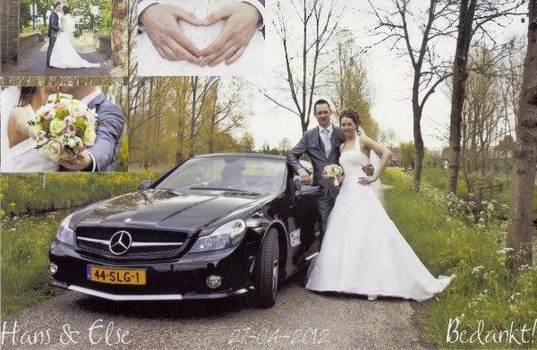 Bruidspaar Huiting - Hartman (Hans & Else) 27-04-2012