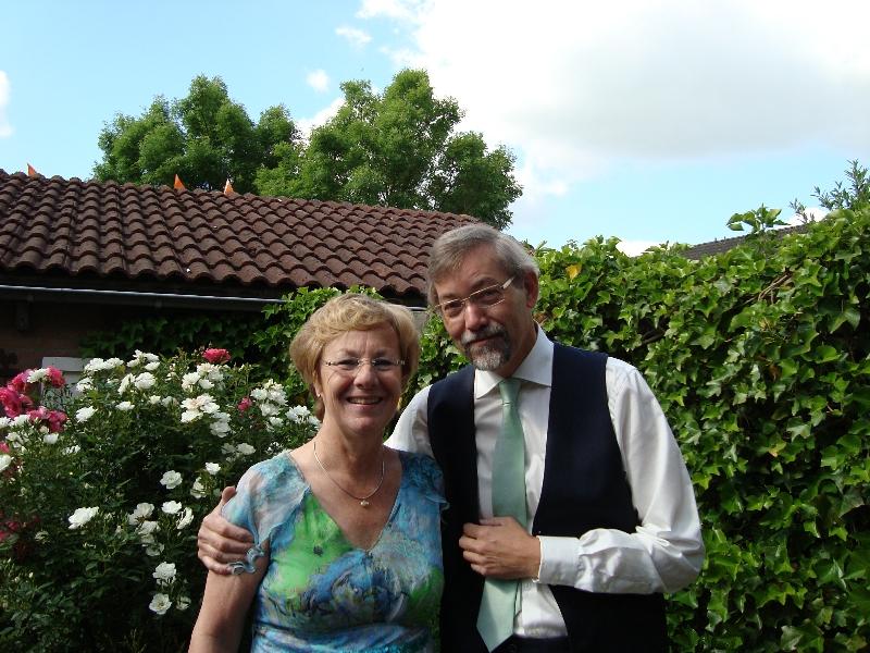Bruidspaar Jan en Yvonne Bouwmeester-van de Kuil 14-05-2012