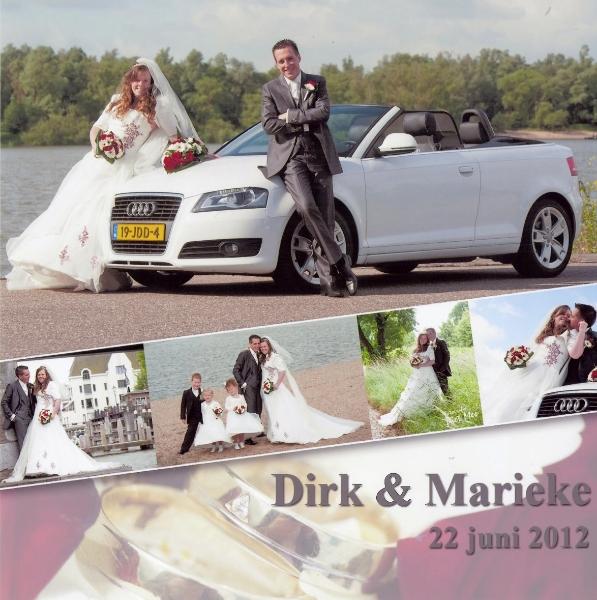 Bruidspaar Dirk de Vree - Marieke van der Stelt 22-06-2012