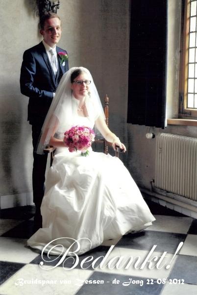 Bruidspaar Paul van Zessen & Martha de Jong