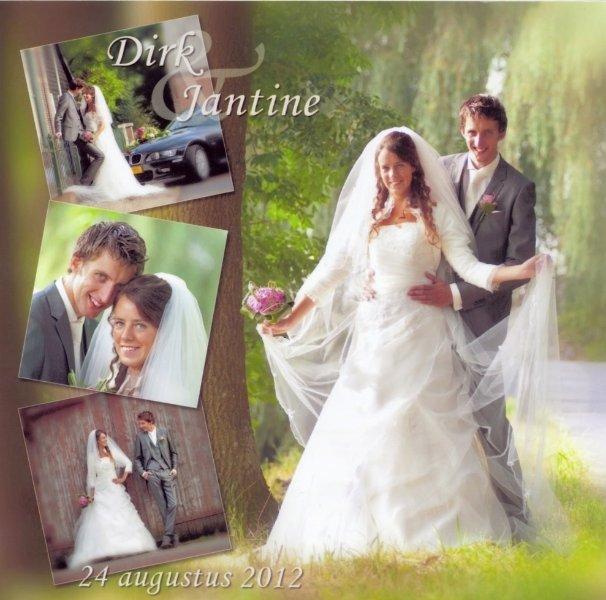 Bruidspaar Dirk Roeland & Jantine van Dijk