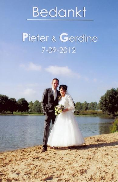 Bruidspaar Pieter Verschoor & Gerdine Hooikaas