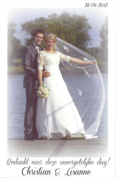 Bruidspaar Christian Jonas & Lisanne Boers (28-09-2012)