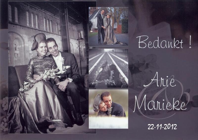 Bruidspaar Arie de Jong & Marieke Verweij (22-11-2012)