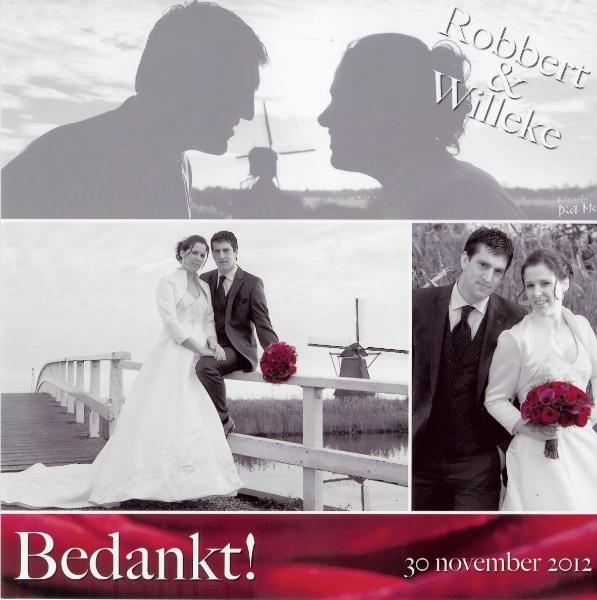 Bruidspaar Robbert Kool & Willeke de Jong (30-11-2012)