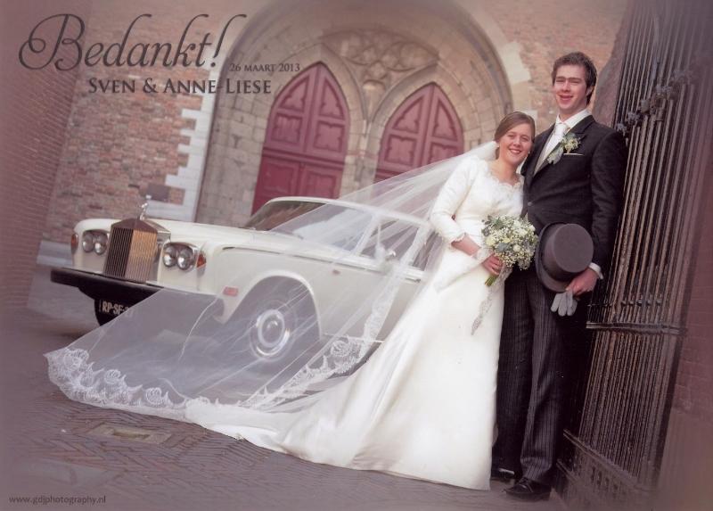 Bruidspaar Sven van Kalkeren & Anne-Liese van der Net (26-03-2013).