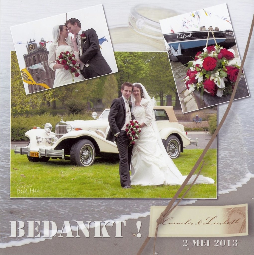 Bruidspaar Cornelis Heuvelman - Liesbeth van Dijke (13-05-02)