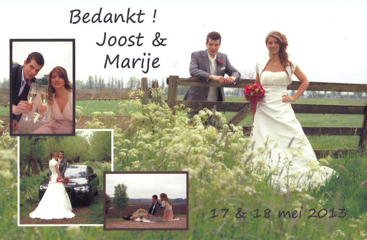 Bruidspaar Joost Dijkgraaf - Marije Ouwekerk (13-05-18)