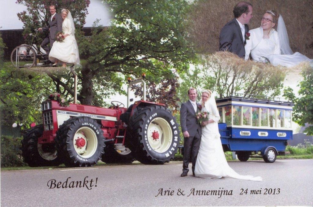 Bruidspaar Arie & Annemijna Middelkoop