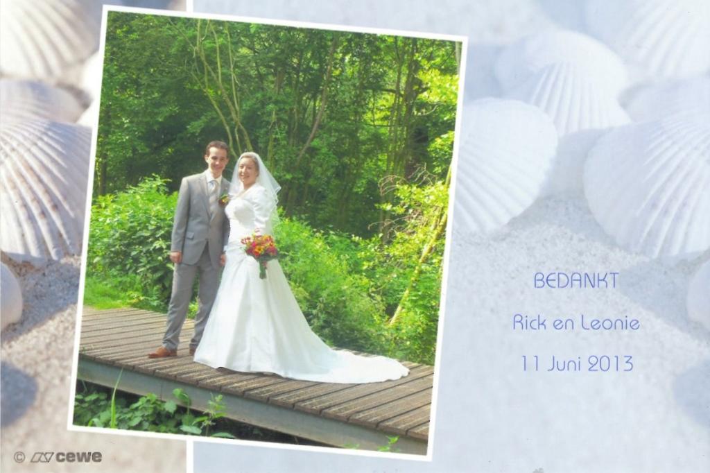 Bruidspaar Rick Boer & Leonie Lubbers (11-06-2013)