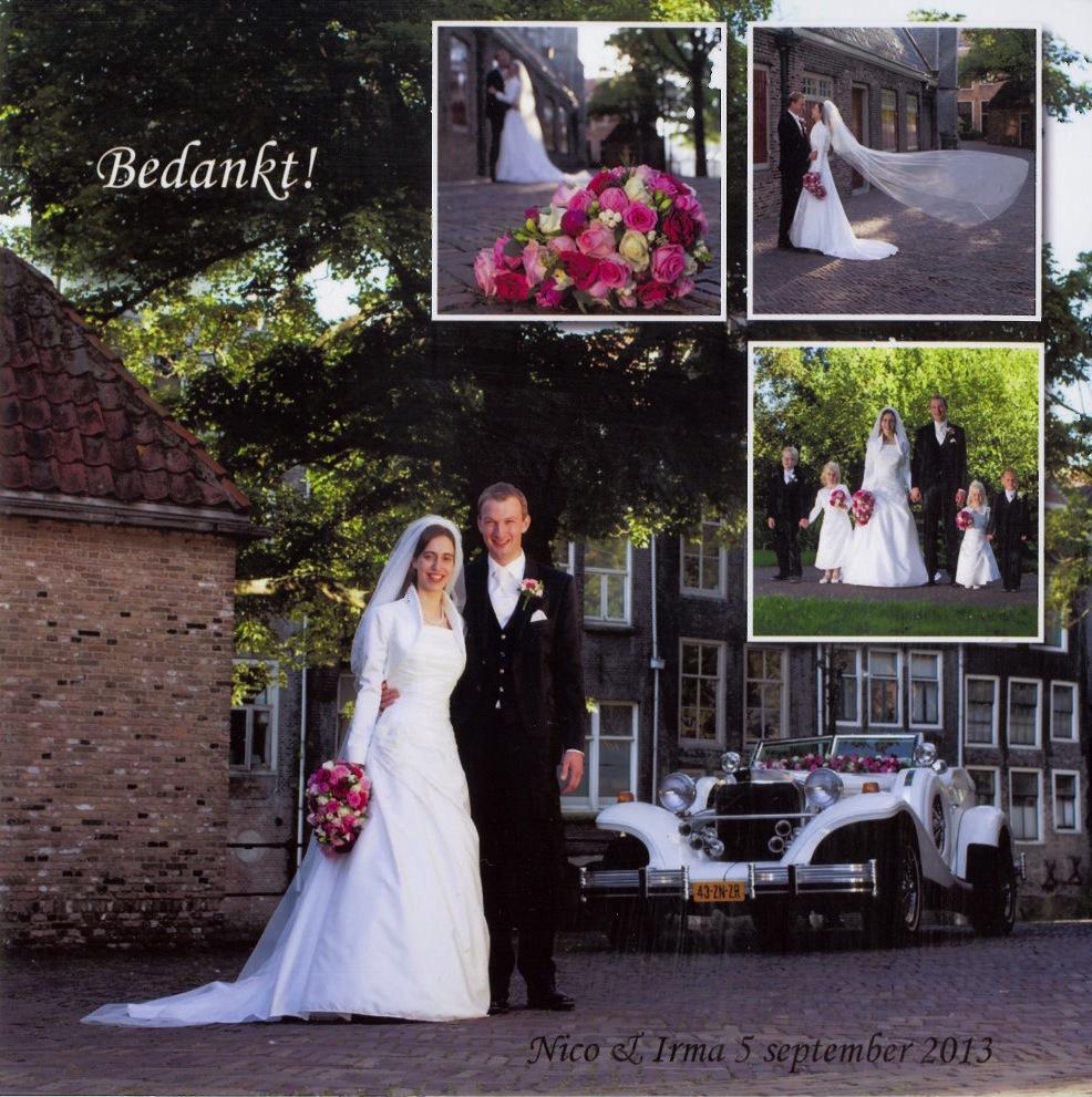 Bruidspaar van de Boogaard - van der Leer (05-09-2013)