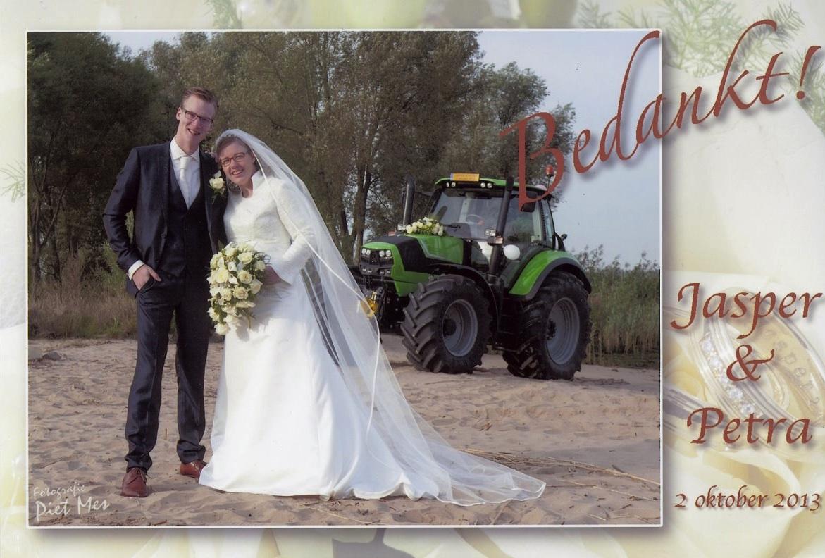 Bruidspaar Jasper Meerkerk en Petra Stam (02-10-2013)