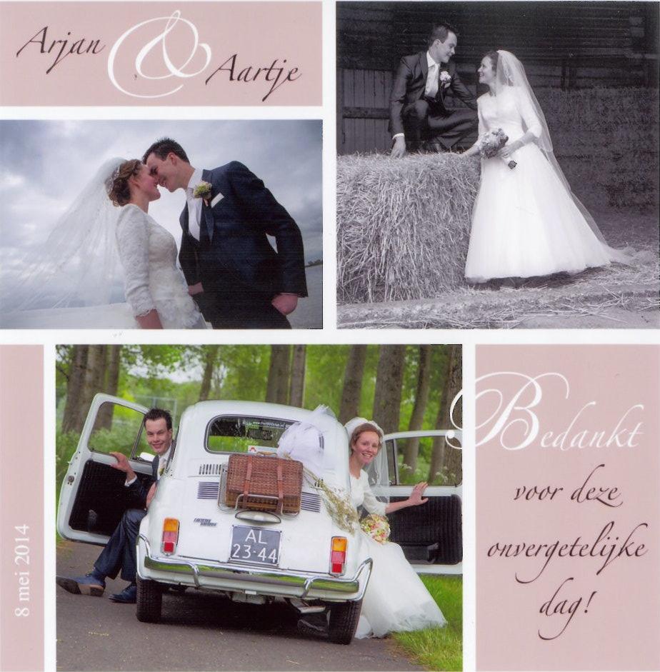 Bruidspaar Arjan Basse & Aartje Hogendoorn (08-05-2014)