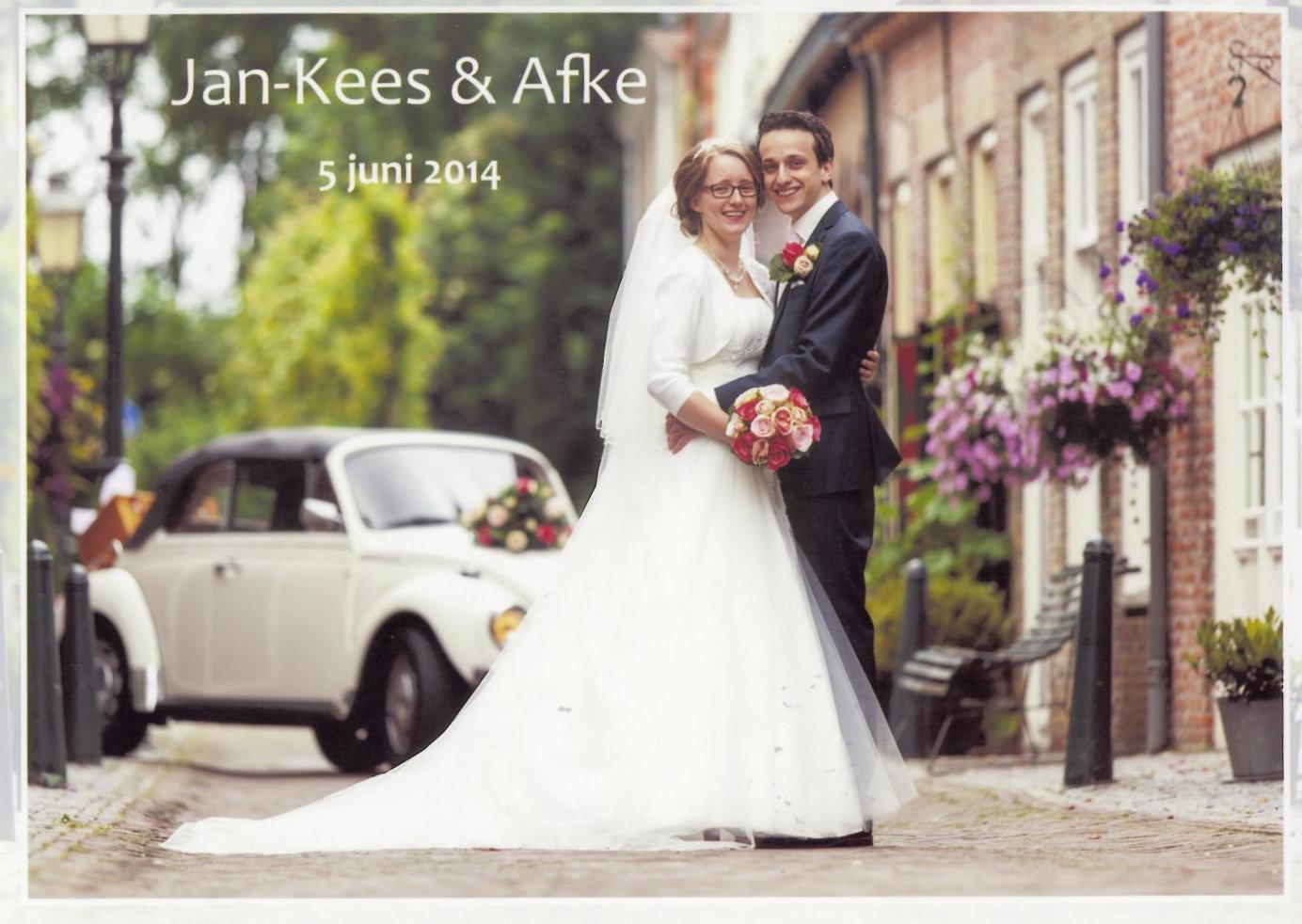 Bruidspaar Jan-Kees & Afke van den Berge (05-06-2014)