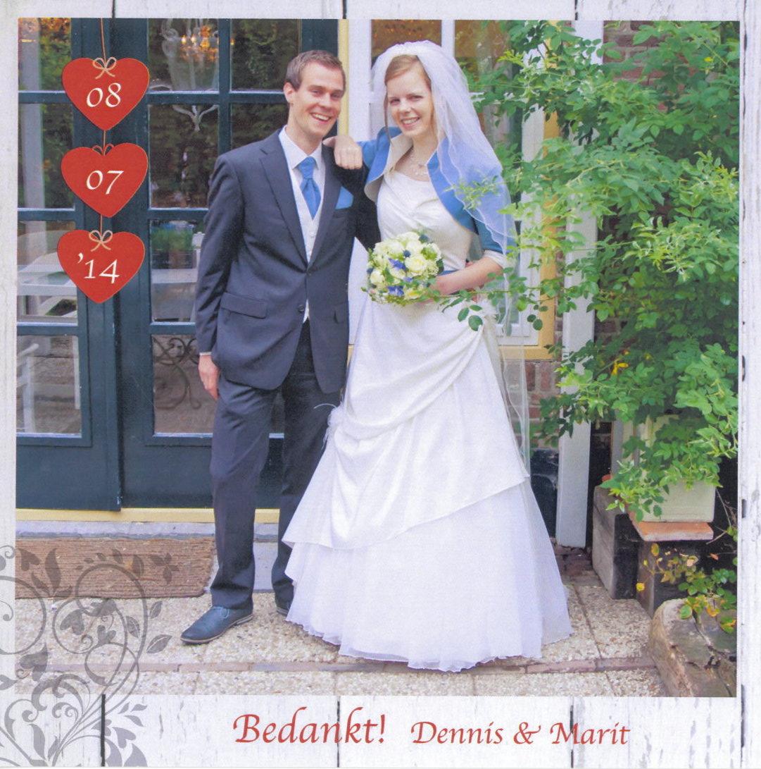 Bruidspaar Dennis Visser & Marit van der Slikke (08-07-2014)