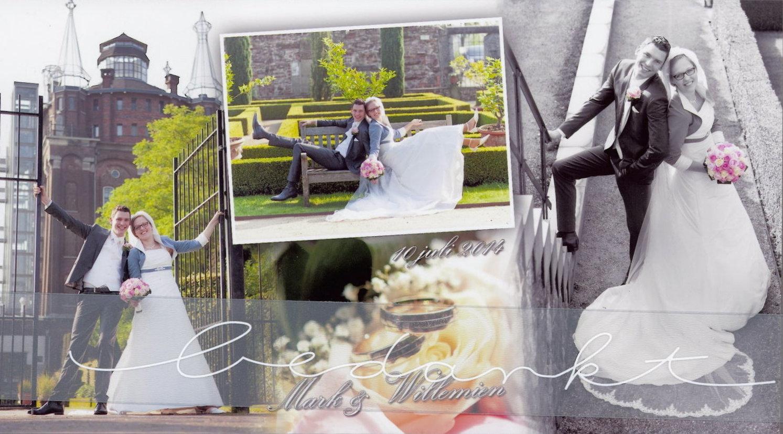 Bruidspaar Mark van Daalen & Willemien Cammeraat (10-07-2014)