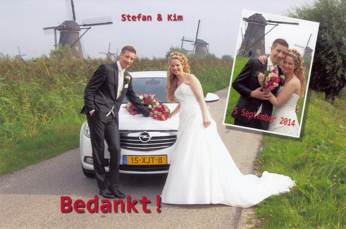 bruidspaar Arend Kramer - Annerieke Sparreboom (05-09-2014)