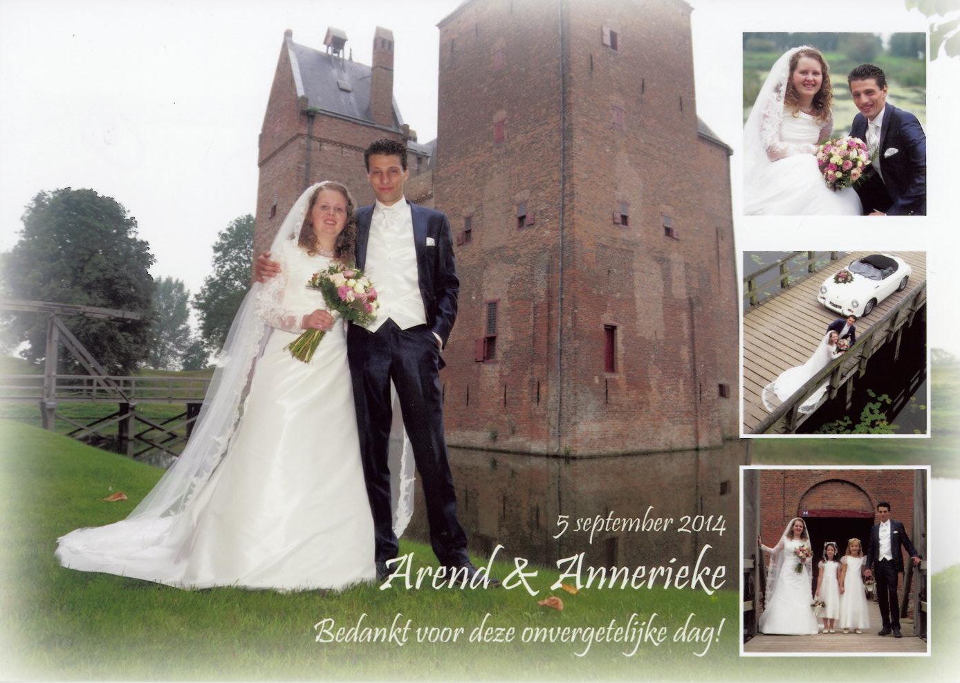 bruidspaar Stefan v.d. Waal - Kim Hermenet (05-09-2014)
