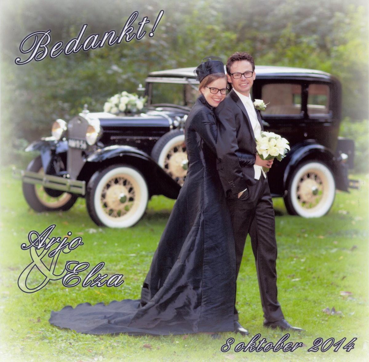 Bruidspaar Arjo Verweij & Elza Verheij (14-10-08)