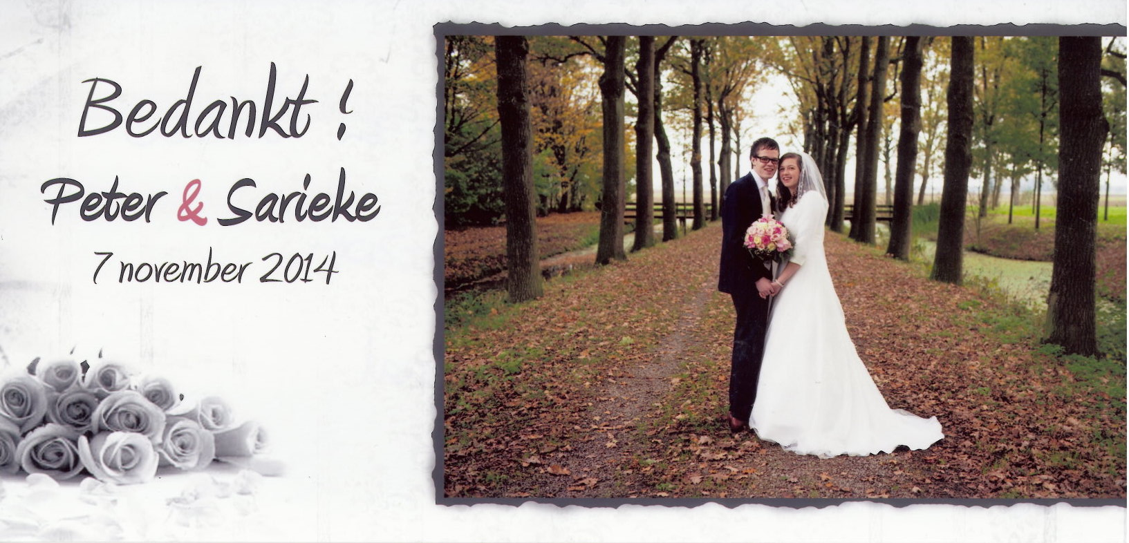 Bruidspaar Peter Muilwijk - Sarieke Lobbezoo (07-11-2014)