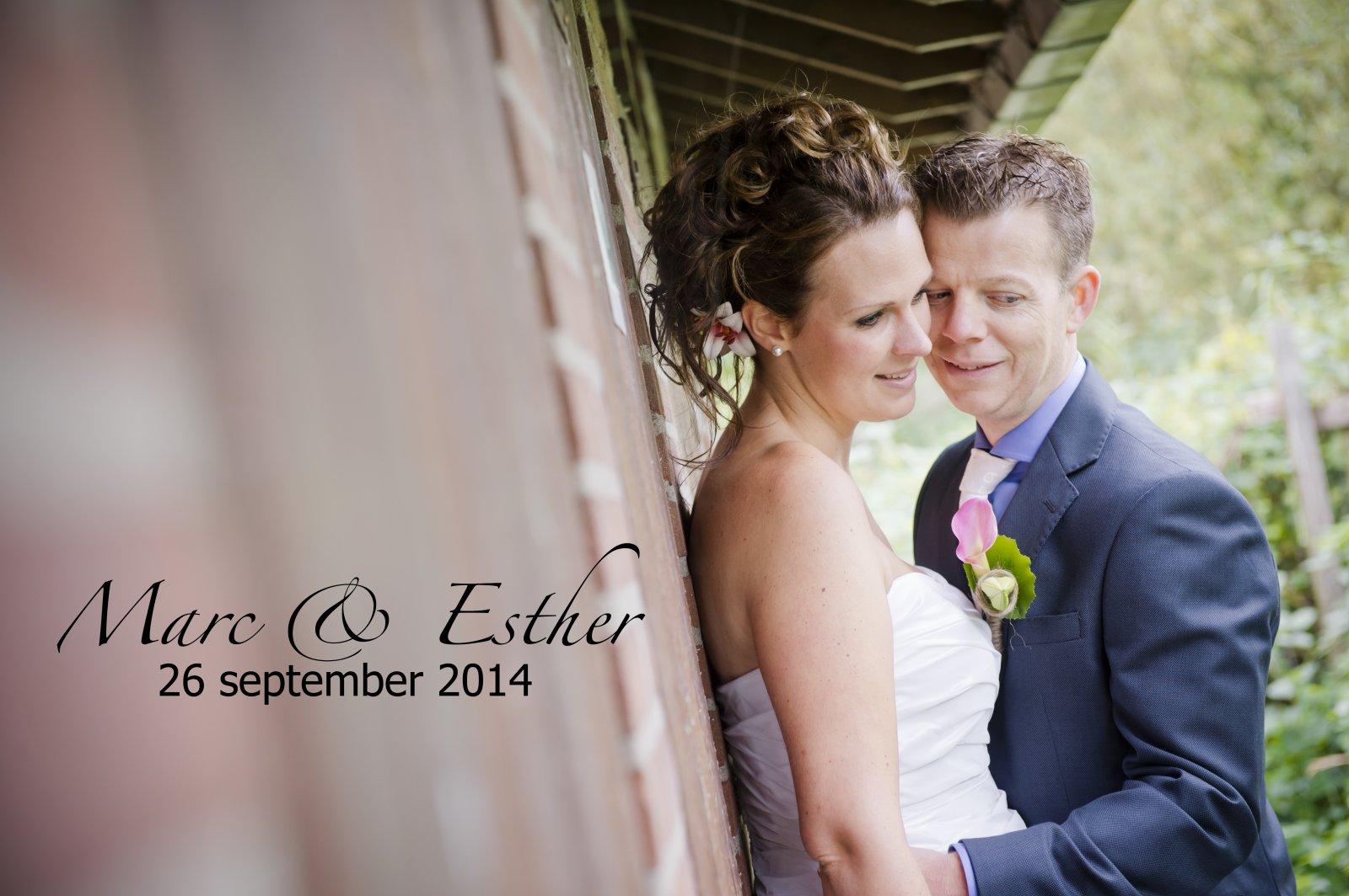 Bruidspaar Marc en Esther (26-09-2014)