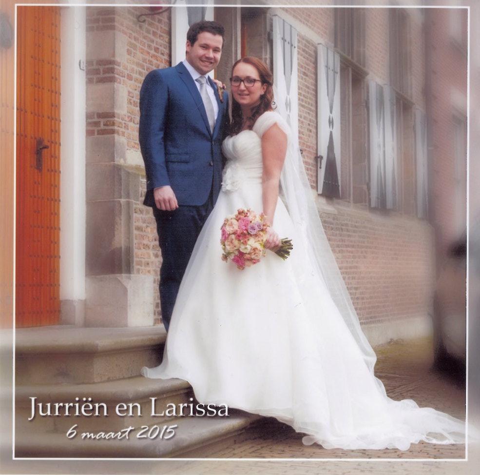 Bruidspaar Jurriën van der Dool - Larissa Spies (06-03-2015)
