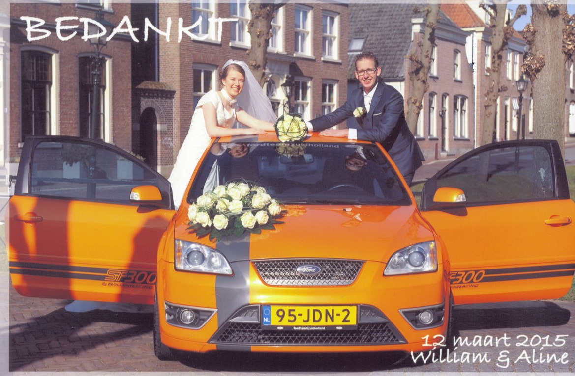 Bruidspaar William & Aline de Jong (12-03-2015)