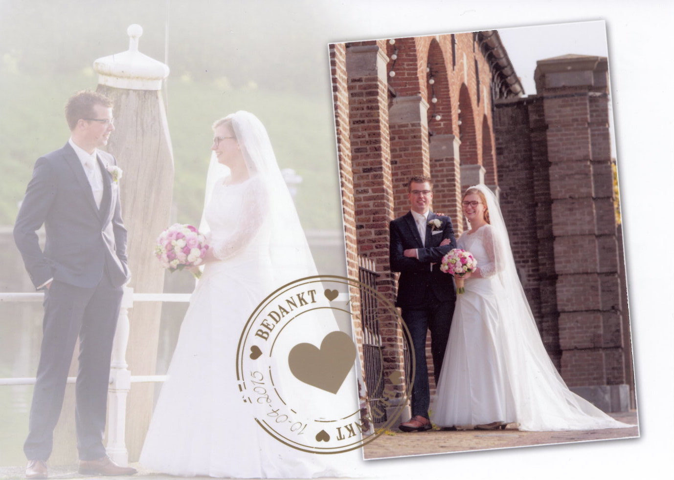 Bruidspaar Arjan de Graaf - Joanne van Loon (10-04-2015)