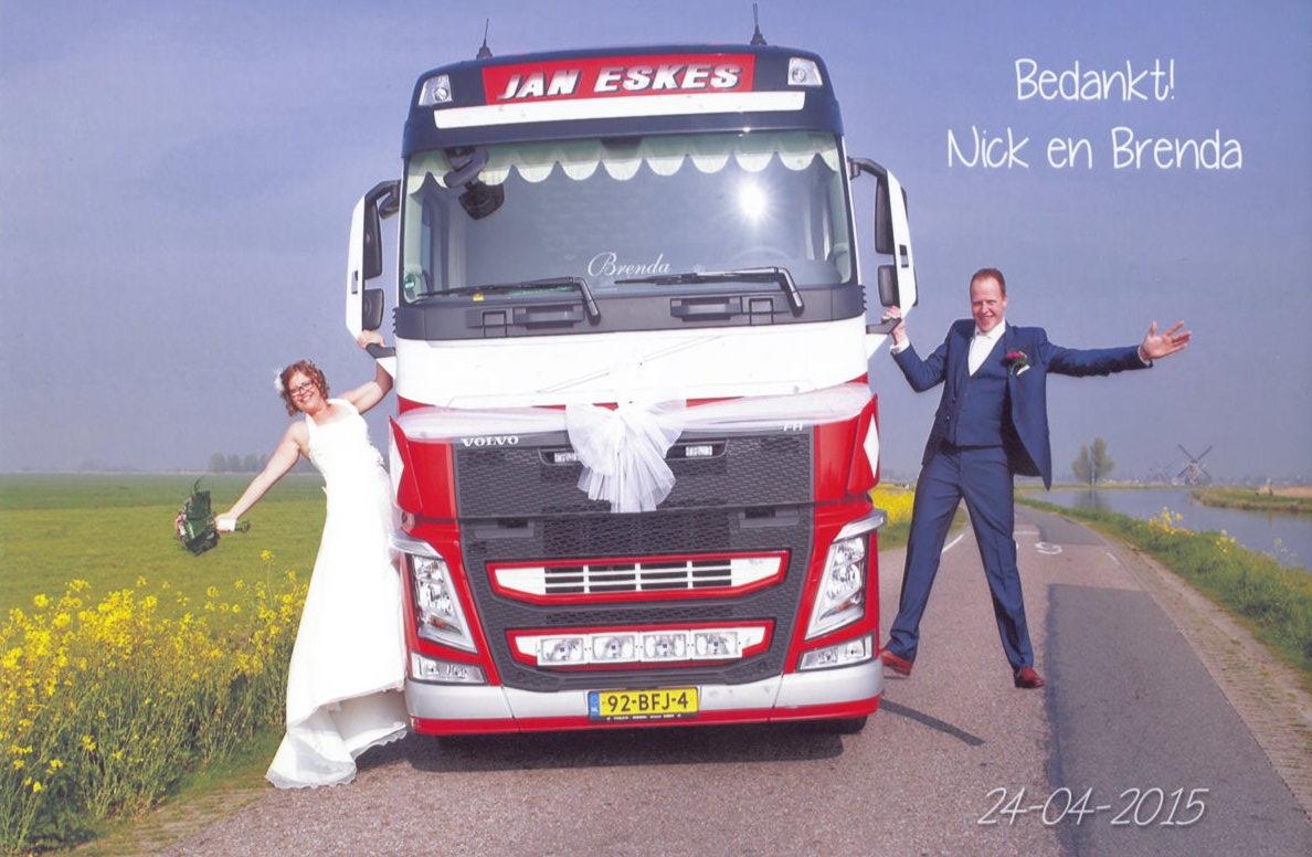Bruidspaar Nick van Wijk & Brenda Kortlever (24-04-2015)