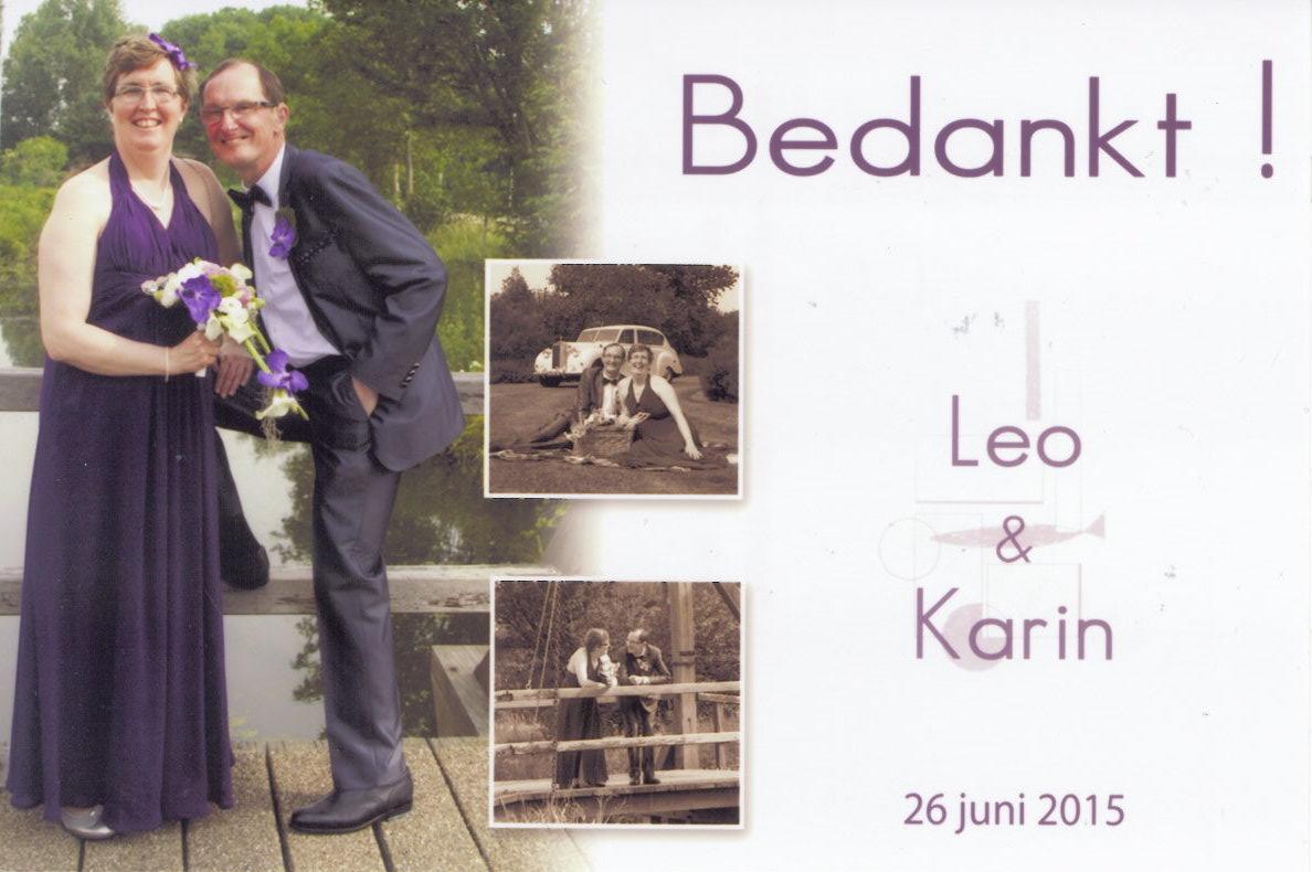 Leo Koole - Karin de Kruijf (26-06-2015)