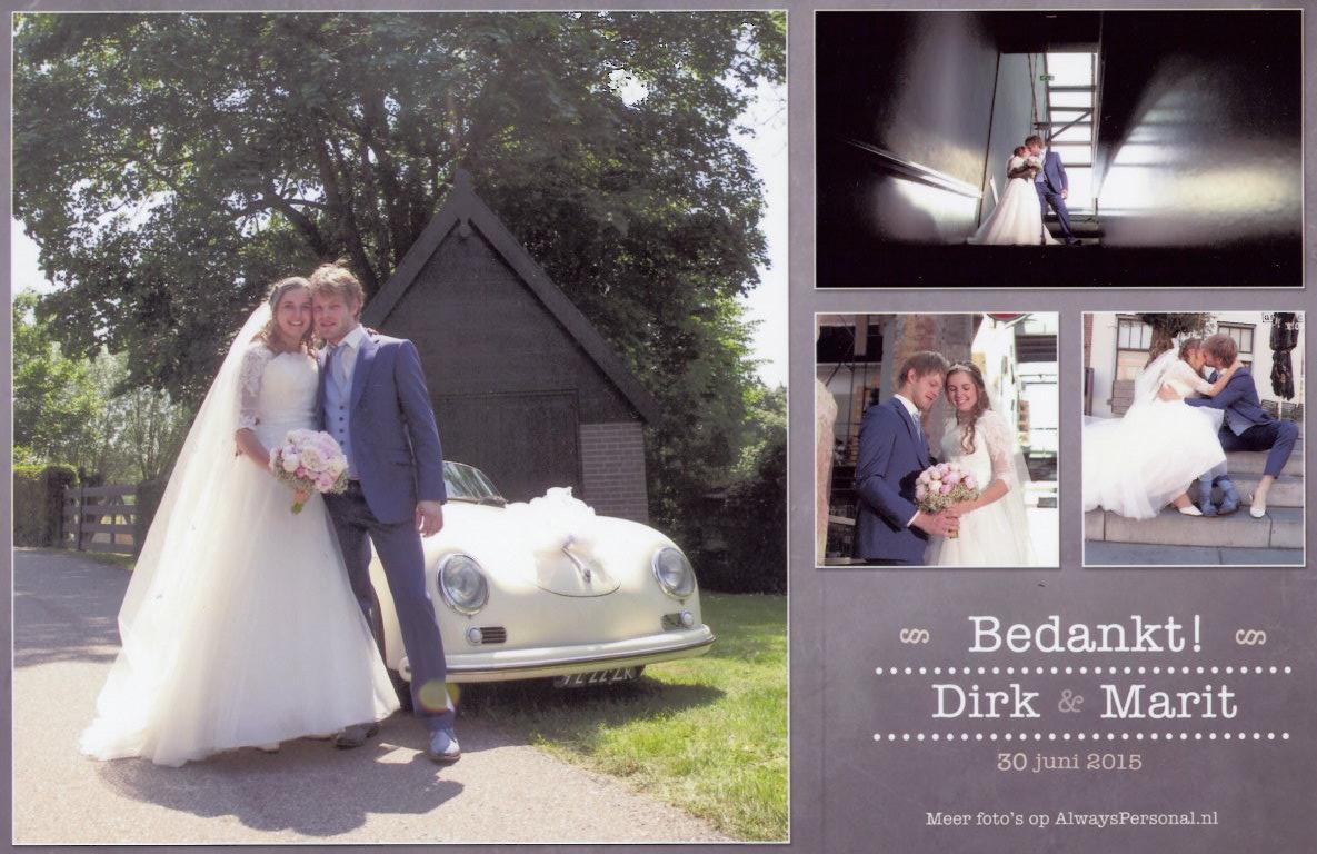 bruidspaar Dirk van Nugteren - Marit van der Linden (30-06-2015)