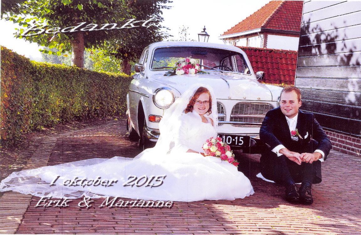 15-10-01 Bruidspaar Erik de Jongh - Marianne Vlot (01-10-2015) De Til