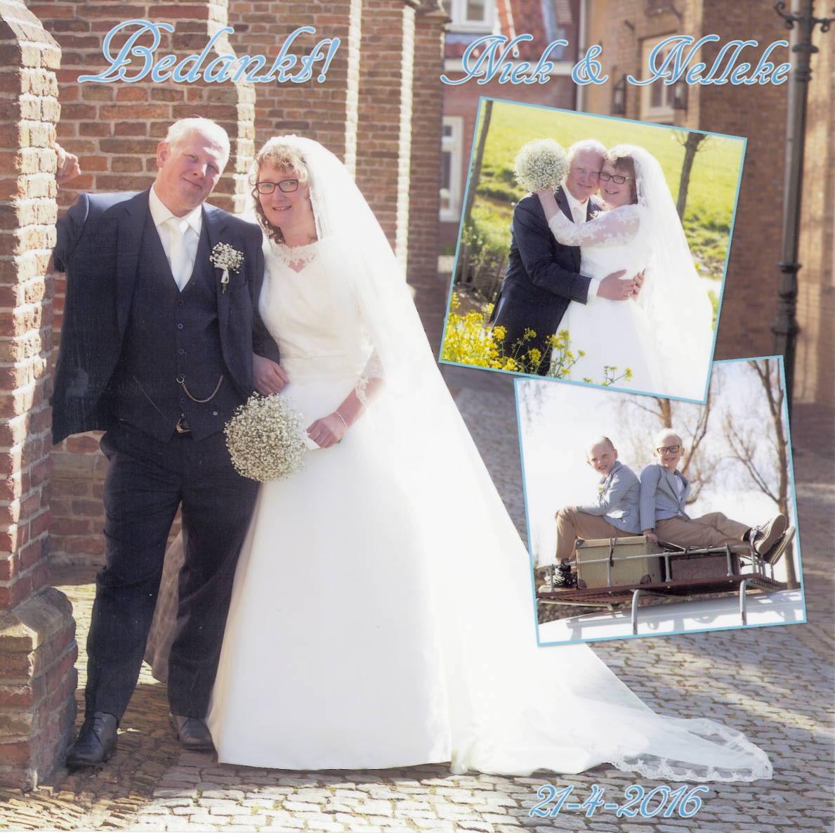 Bruidspaar Niek Veldman - Nelleke van der Perk (21-04-2016)
