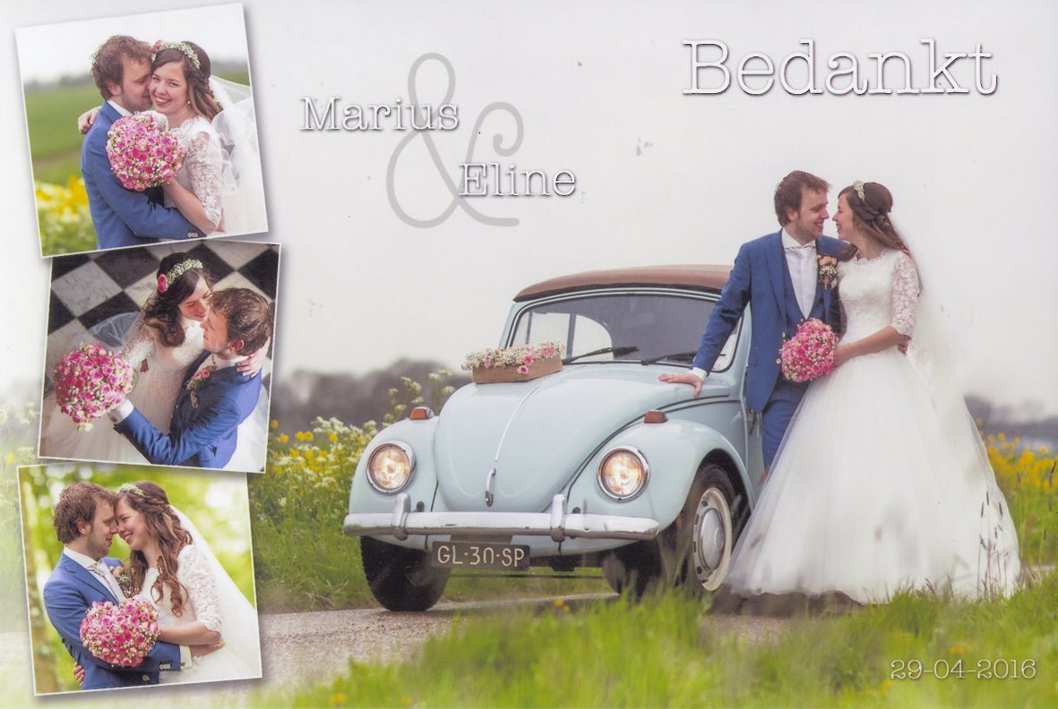 Bruidspaar Marius & Eline Horssen (16-04-2016)