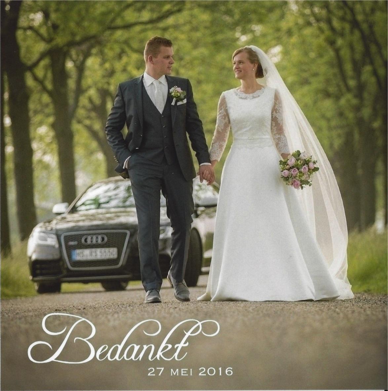bruidspaar Wilbert van de Dool en Margreet de With (27-05-2016)
