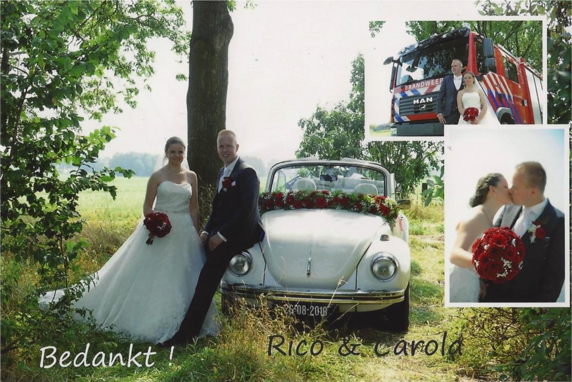 bruidspaar Rico Sonnema & Carola Timmer (26-08-2016)