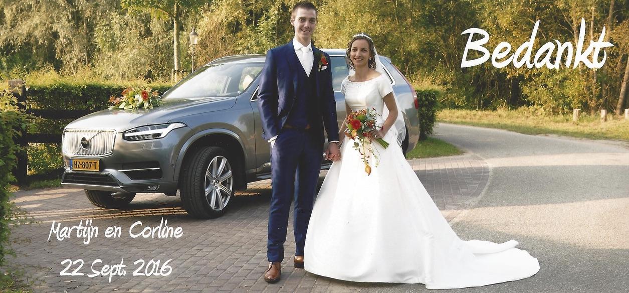 bruidspaar Martijn Struijk en Corline Suijlekom 22-09-2016