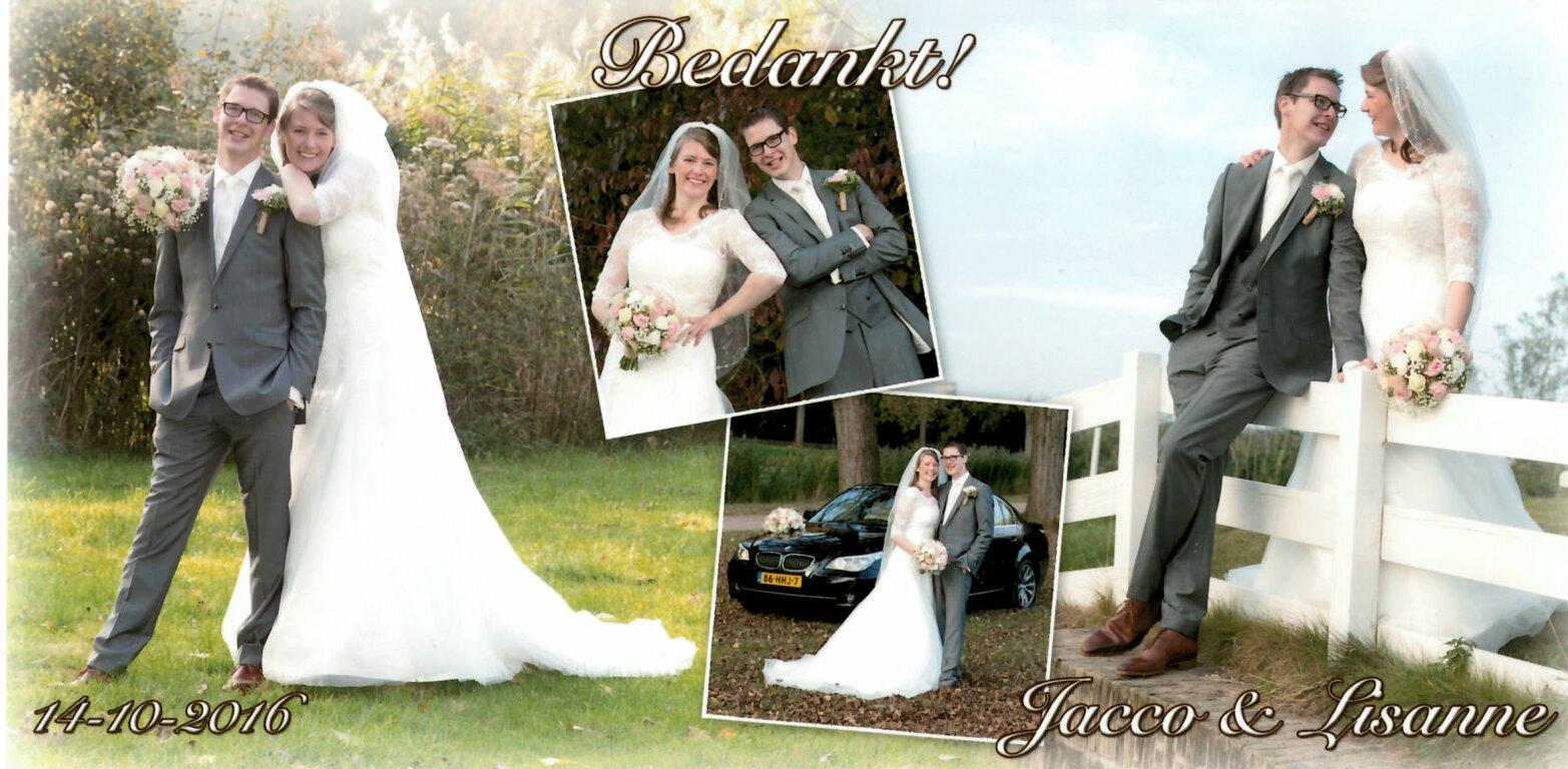 16-10-14 bruidspaar Jacco van Rees & Lisanne Verhoeven